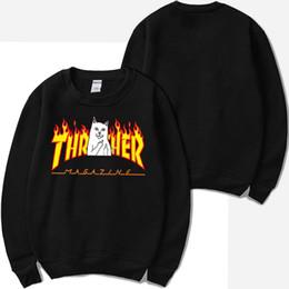 $enCountryForm.capitalKeyWord Australia - Designer Men RIPNDIP Flame Hoodies Men Women Teenager Clothing Sweatshirts O-neck Thra