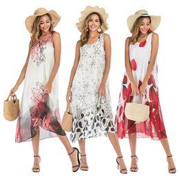 $enCountryForm.capitalKeyWord Australia - 2019 Summer Midi Chiffon Dress Floral Print Boho Beach Dress Women Evening Party Dress Sundress