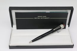 Pen Brands Australia - 1912 Collection SPIDER Ballpoint pen Black body with silver Trim Stationery office school supplies with MB Brands write pen