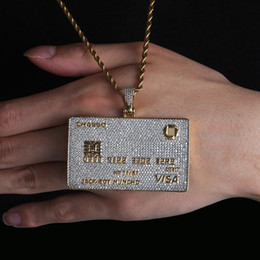 pendant south america Australia - 2019 Newest Europe and America VIP card shape personality hip hop necklace with high quality Zircon Pendant unisex necklace wholesale