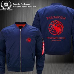 Discount games thrones costume - Dropshipping USA Size Unisex MA-1 Game of Throne Targaryen Fire&Blood Flight Jacket Costume Design Printed Bomber Jacket