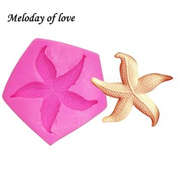 silicone christmas fondant mould Australia - Starfish soap making mould chocolate cake decorating tools DIY sea star fondant silicone mold baking tools for cakes