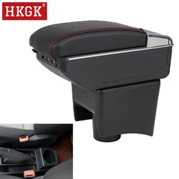 vw car accessories 2019 - Armrest For VW Polo Vento 2010-2017 Dual Layer Rotatable Central Store Content box with Ashtray Car interior accessories