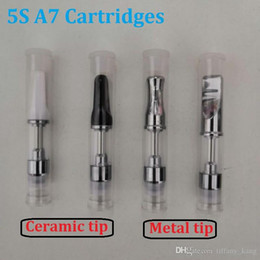 mjtech 5s atomizer Canada - Mjtech 5S A7 Bud Cartridges Ceramic coil 510 Thread O Pen CE3 Atomizer Refillable For Ego UGO battery 10.5mm diamater tank