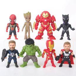New Spiderman Figures Australia - 8 Style Avengers 3 Infinity War Figure toys 2018 New Thanos Iron Man spiderman Captain America Hulk Thor buster model Figure Toy D0222