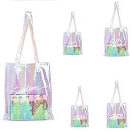 $enCountryForm.capitalKeyWord Australia - Twice Got7 Wanna One EXO PU Laser Transparent Shoulder Bag Student School Bag Shopping Color On Me LJ310