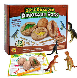 Chinese  Dig Discover Dino Egg Excavation Toy Kit Unique Dinosaur Eggs Easter Archaeology Science Gift Dinosaur Party Favors for Kids Boy Girl manufacturers