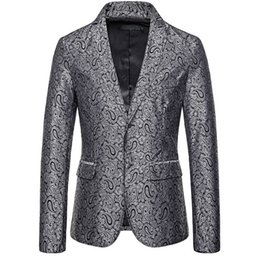 $enCountryForm.capitalKeyWord Australia - Spring Men's Suit New High Quality Long Sleeve Lapel Festival Dress Jacket Polyester Contrast Embroidered Stereo Pattern Small Suit Jacket