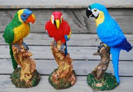 $enCountryForm.capitalKeyWord Australia - Resin parrot stum Garden Decoration Simulation Parrot Fairy Garden Miniature Sculpture Crafts Outdoor Animal Decoration Wedding prop Gift