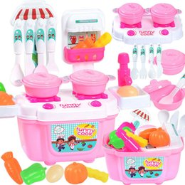 Girls Kitchen Play Set Australia - 2018 new 22pcs set children girl toy role playing mini cute cartoon simulation small kitchen girl cooking house toy F4