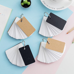 leaf note pad UK - Mini Loose-leaf Notebook Cute Ring Buckle Blank Word Book Card Tearable Notepads Stationery Memo Pad Supplies