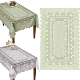 China White or Cream Lace Kitchen Table Cloth Tablecloth Round or Oblong choice Colorful Lace Tablecloth Floral new &6 supplier oblong table suppliers