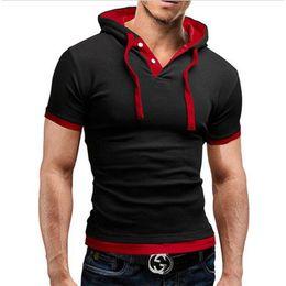 Hot Design Tees Australia - 2017 New Men Tshirt Hooded Tees Hot Sale Summer Cool Design T-Shirt Homme Fitness Fashion Brand Clothing Male T Shirt Plus