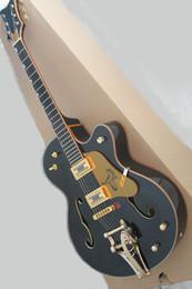 Black Guitar Ebony Fingerboard NZ - Black electric guitar with gold guard, ebony fingerboard, vibrato system, gold hardware, precision production, high quality, customized serv