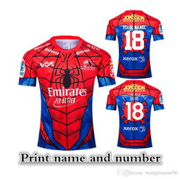 Flash Marvel Jersey NZ - 2019 NEW ZEALAND Super RUGBY Lions SPIDER-MAN MARVEL RUGBY JERSEY size S-XXXL Print name and number Top quality free shipping