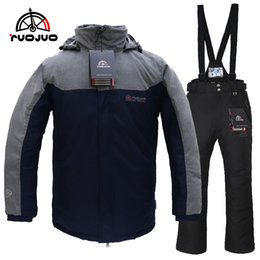 Snowboard Wear Suit Australia - RUOJUO New Men Outdoor Ski Suit Winter Sport Snowboard Sets Waterproof Windproof Breathable Thermal Ski Wear Skating Clothes