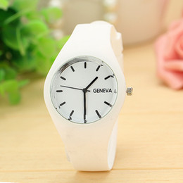 Candy Colored watChes online shopping - Leisure Sports watch Candy colored all season watch Silicone band Smart Watches