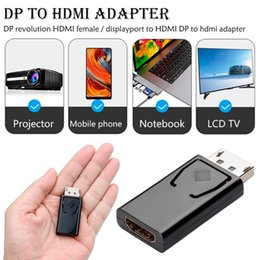 $enCountryForm.capitalKeyWord Australia - 20Pin DP to HDMI DVI Adapter ABS Display Port Adapter Support 10.8Gbps 1080P Video Audio Transmission Digital