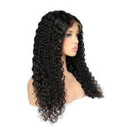 peruvian deep wave full lace wigs UK - Lace Front wigs Deep Wave Full Lace Human Hair Wigs Pre Plucked Natural Hairline baby hair Peruvian Brazilian Indian Hair 180%Density