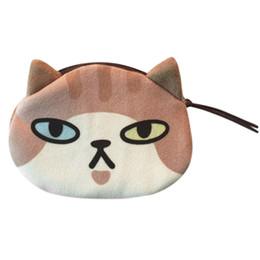 $enCountryForm.capitalKeyWord Australia - Women Polyester Cotton Cute Print Cat Face Versatile Occasion Girl Plush Coin Purse Change Purse Bag Wallet
