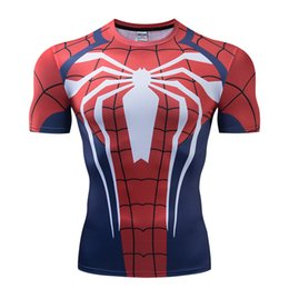 sports 3d tees NZ - 3D Spider Verse Spider Man Tshirt PS4 Short Sleeve Printed Sports Tops Tees Tight O-neck Men Summer T-shirt
