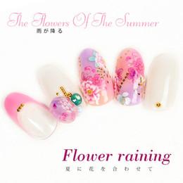 Super glue nailS online shopping - Flower Raining Nail Sticker Super Thin Back Glue Nail Art