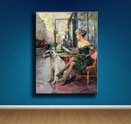 Nude Girl Oil Painting Arts Australia - (Unframed Framed) Konstantin Razumov Girl,1 Pieces Canvas Prints Wall Art Oil Painting Home Decor 18X24. #21
