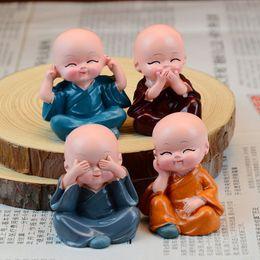 $enCountryForm.capitalKeyWord Australia - 4Pcs set Little Cute Monk Car Interior Display Decoration Car Seat Ornament Home Lovely Decor Dolls Styling