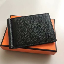 Wholesale Men Bifold Business Leather Wallet luxury famous ID Credit Card visiting cards wallet magic Money Clips hot