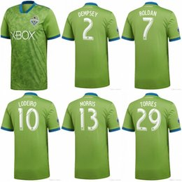 9459047bf 2019 MLS Seattle Sounders Soccer Jersey 2 DEMPSEY 13 MORRIS Football  Uniform Top Quality 29 TORRES 6 ALONSO 17 BRUIN Football Shirt