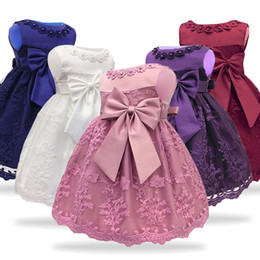 69dc8dc97 For Baby Girls Princess Infant Party Christening Gowns First 1 Year  Birthday Dress Newborn Costume Q190518
