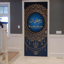 New Style 3d Paintings NZ - Muslim Style Self-adhesive Mural Furniture Renovation 3D Door Sticker Living Room Bedroom Wall Painting PVC Waterproof Removable Wallpaper
