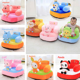 Soft Toy Stuffing Australia - Cute Soft Stuffed Plush Toy Animal Toys Infant Back Support Learning Sit Safety Baby Sofa Feeding Chair Seat Kid Gift Q190521