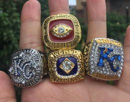 $enCountryForm.capitalKeyWord Australia - 4pcs Kansas City 1969 1985 2014 2015 Royal s World Baseball Championship Ring Set Souvenir Men Fan Gift 2019 wholesale Drop Shipping