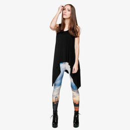 7b3c1e956fedc Lady Leggings Blue Sky Sunset City 3D Digital Full Printed Stretchy Trousers  Girl Sportwear Pencil Pants Woman Casual Yoga Pants (Y29745)