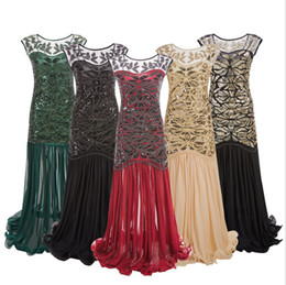 $enCountryForm.capitalKeyWord Australia - Red Green Black Gold Apricot Gown 1920 Dress Sequined Ruffle Sparkly Mesh Sequin Accented Ruffles Tail Dress Sequin Tulle Long Prom Dress