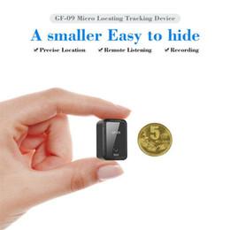 Ingrosso GF09 Mini GPS Tracker Anti-Theft Device GPRS Locator APP Voice Registrazione Scarica Anti-Lost per anziani e figlio
