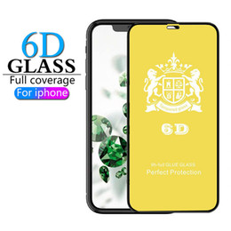 scratch glasses Australia - Full Screen Coverage Tempered Glass For iPhone XS MAX X XR 6 7 8 Plus Screen Protectors 6D Curved Anti-Scratch Protectors