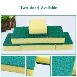 Kitchen Blocks Australia - High Density Rubber-impregnated Sponge Clean Wipe Dishwash Sponge Wipe Cleaning Cloth Sponge-block Household Kitchen