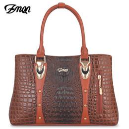 $enCountryForm.capitalKeyWord Australia - Zmqn Luxury Women Handbag 2019 Leather Bag For Women Designer Handbag Famous Brand Crocodile Ladies Hand Bag Bolsa Feminina C869 Y19061803