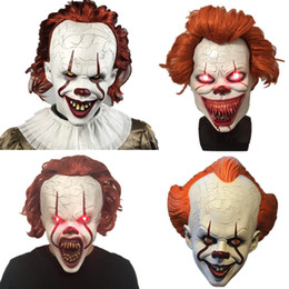 feiticeiro venda por atacado-Máscara Máscara Halloween Cosplay Sorcerer Clown Latex Joker Máscaras Horror Halloween Masquerade Party Máscara Facial Horror Partido Adulto DBC VT0954