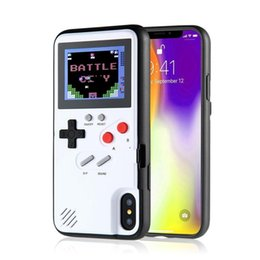 $enCountryForm.capitalKeyWord Australia - NewMini Handheld Game Consoles phone case Silica gel protective sleeve Retro Game machine player Color LCD For iphone6 7 8 8plus X XS Max XR