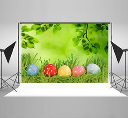 $enCountryForm.capitalKeyWord Australia - Kate Easter Backdrop Colorful Eggs Photography Backdrops Green Grass Backgrounds Spring Nature Scene Photo Background