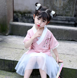 $enCountryForm.capitalKeyWord Australia - Summer girls Hanfu national wind improved Tang suit Chinese style children's costumes little girl suit baby skirt wholesale