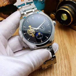 $enCountryForm.capitalKeyWord Australia - High Quality Top Brand Mens Watches Luxury Designer Mechanical Automatic Stainless Steel Tourbillon Moon Phase Watch For Men Male Relogios
