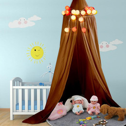 boy room bedding UK - Baby Canopy Round Mosquito Net Boys Girls Princess Bed Canopy Cotton Bed Valance Pest control Reject Net Kids Room Decoration