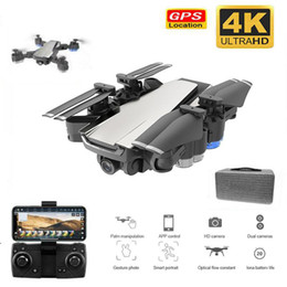 Discount rc drone gps camera - GPS Drone with 4K camera foldable Drones with HD Adjustment 50x zoom Camera Wide Angle WIFI FPV RC Quadcopter Profession