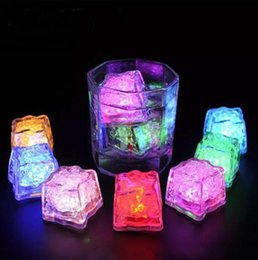 Ice Party Decorations Australia - Led Lights Polychrome Flash Party Lights LED Glowing Ice Cubes Blinking Ice Cubes Light Up Party Decoration