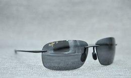 Toptan satış Breakwall 422-02 Parlak Siyah Unisex Güneş Gözlüğü Gözlük Polarize erkek kadın