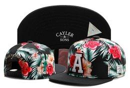 Belle vente chaude été coton hommes casquette de baseball marque fleur cayler fils chapeaux snapback pour femmes hommes snapback hiphop rue casquette TYMY 265 en Solde